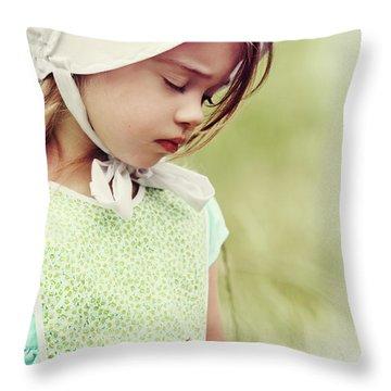 Amish Child Throw Pillow