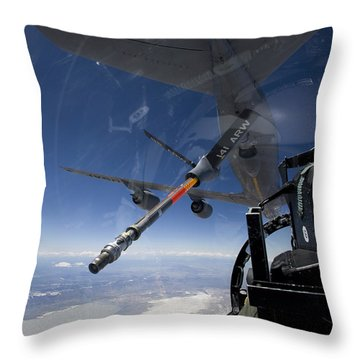 An F-15 Eagle Pulls Into Position Throw Pillow by HIGH-G Productions