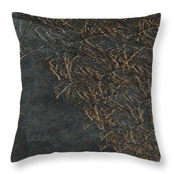 Ancient Fossils Throw Pillow by Christopher Gaston