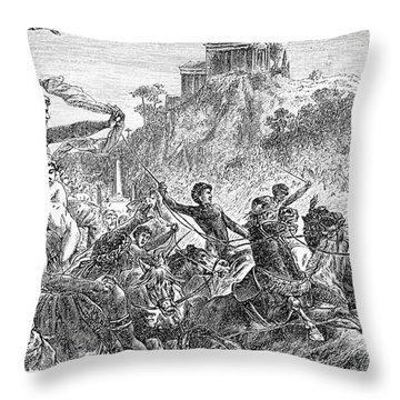 Ancient Olympic Games Throw Pillow by Granger