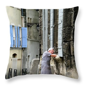 Another Nap.arles.france Throw Pillow by Jennie Breeze