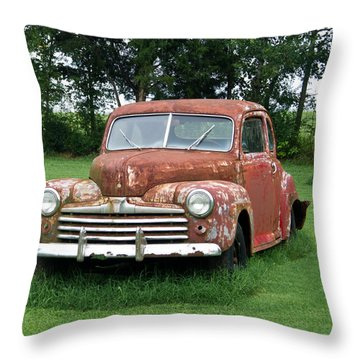 Antique Ford Car 1 Throw Pillow by Douglas Barnett