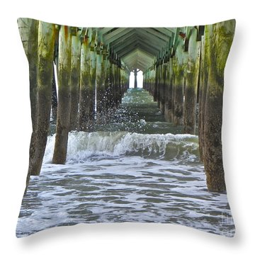 Throw Pillow featuring the photograph Apache Pier by Eve Spring