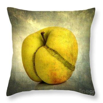 Apple Textured Throw Pillow by Bernard Jaubert