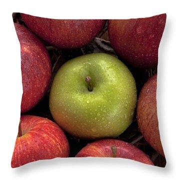Apples Throw Pillow by Joana Kruse