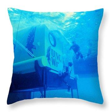 Aquarius Underwater Ocean Laboratory Throw Pillow by Science Source