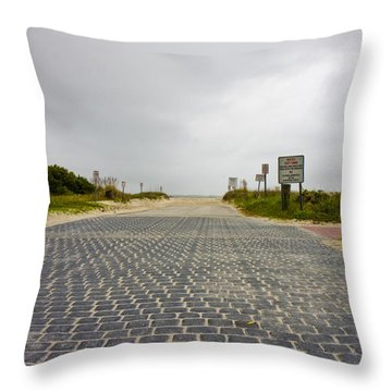Arriving At The End Throw Pillow by Betsy Knapp
