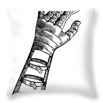 Artificial Hand Designed By Ambroise Throw Pillow by Science Source