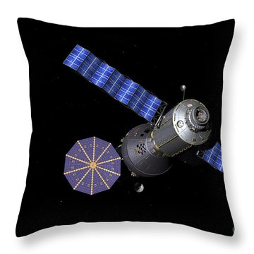 Artists Concept Of The Deep Space Throw Pillow by Walter Myers