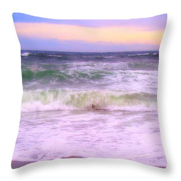 At The Seashore Throw Pillow by Marilyn Wilson