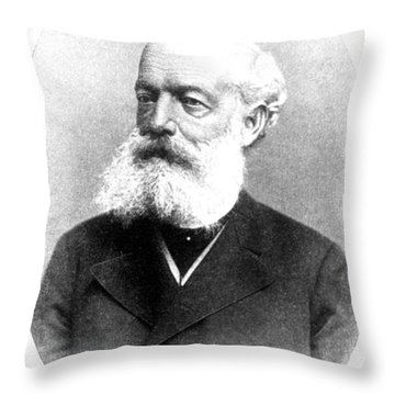August Kekul�, German Organic Chemist Throw Pillow by Science Source