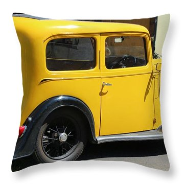 Austin Healey Seven 1937 Throw Pillow by Rene Triay Photography