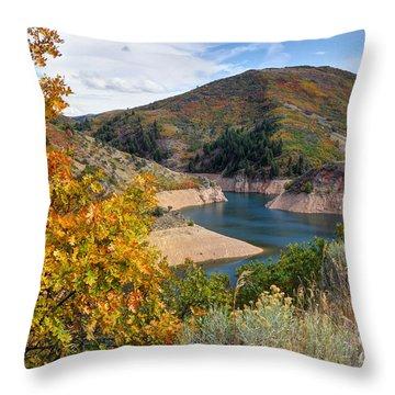 Autumn At Causey Reservoir - Utah Throw Pillow