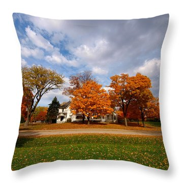 Autumn Is Colorful Throw Pillow by Paul Ge
