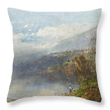 Autumn On The Androscoggin Throw Pillow by William Sonntag