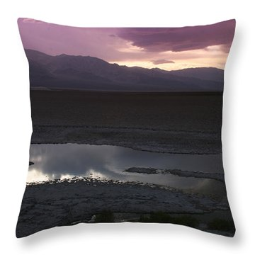 Badwater Basin Death Valley National Park Throw Pillow