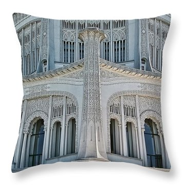 Bahai Temple Wilmette Throw Pillow by Rudy Umans