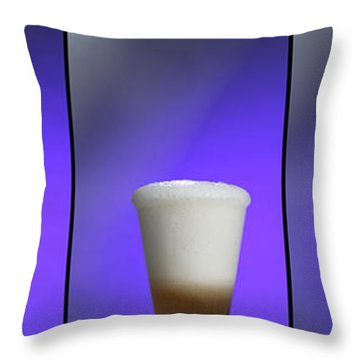 Baking Soda Reacting With Vinegar Throw Pillow by Photo Researchers, Inc.
