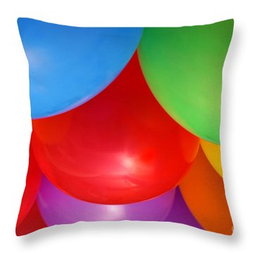 Balloons Background Throw Pillow by Carlos Caetano