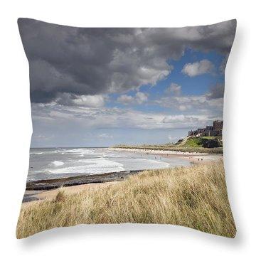 Bamburgh Castle Northumberland, England Throw Pillow by John Short
