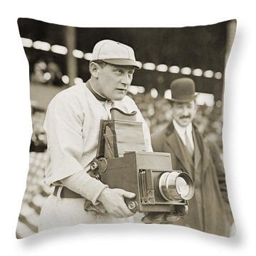 Baseball: Camera, C1911 Throw Pillow by Granger