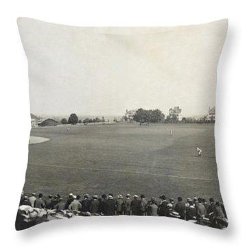 Baseball Game, 1904 Throw Pillow by Granger