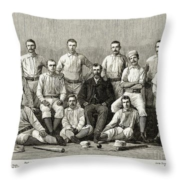 Baseball: Providence, 1882 Throw Pillow by Granger