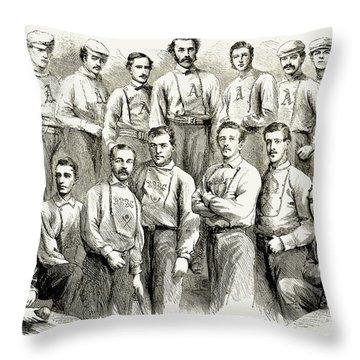 Baseball Teams, 1866 Throw Pillow by Granger