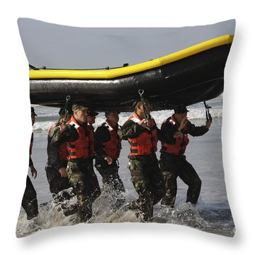 Basic Underwater Demolitionseal Throw Pillow by Stocktrek Images