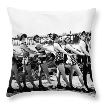 Bathing Beauties, 1916 Throw Pillow by Granger