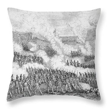 Battle Of Monterrey, 1846 Throw Pillow by Granger