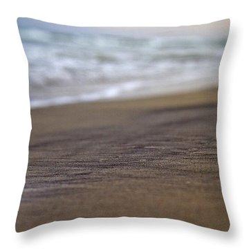 Beach Throw Pillow by Betsy Knapp