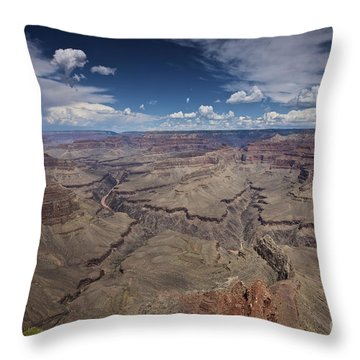 Beautiful Vista Of Grand Canyon Throw Pillow by Terry Moore