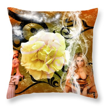 Throw Pillow featuring the photograph Beauty by Clayton Bruster