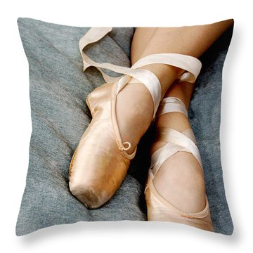 Beauty Is The Pointe Throw Pillow by Kim Fearheiley