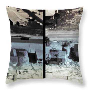 Before And After Hurricane Eloise 1975 Throw Pillow by Science Source