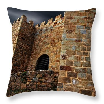 Belver Castle Throw Pillow by Carlos Caetano