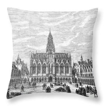 Bethnal Green Market, 1869 Throw Pillow by Granger