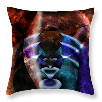 Beyond The Mask Throw Pillow by Christopher Gaston