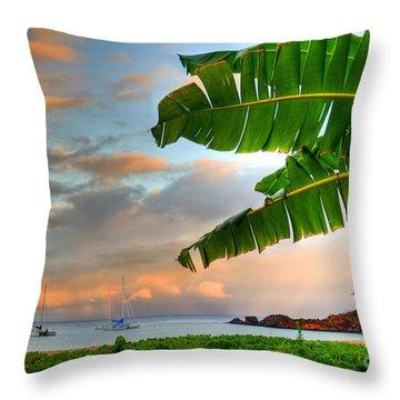 Black Rock Sunrise Throw Pillow