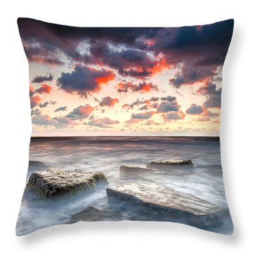 Boiling Sea Throw Pillow by Evgeni Dinev