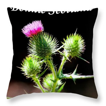 Bonnie Scotland Throw Pillow