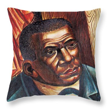 Booker T. Washington, African-american Throw Pillow by Photo Researchers