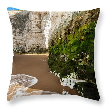 Botany Bay Throw Pillow by Dawn OConnor
