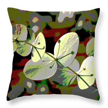 Bright Leaf  Throw Pillow by Don Wright