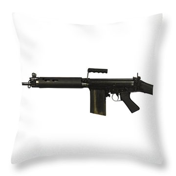 British L1a1 Self-loading Rifle Throw Pillow by Andrew Chittock