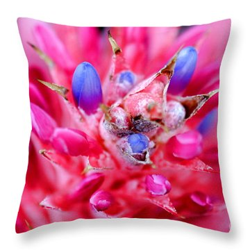 Bromeliad Throw Pillow by Henrik Lehnerer