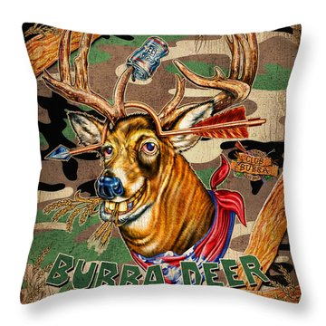 Bubba Deer Throw Pillow by JQ Licensing