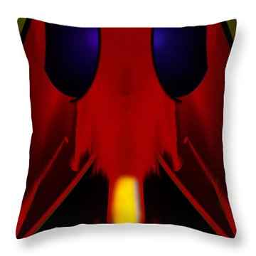 Bug Throw Pillow by Christopher Gaston