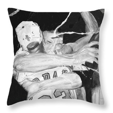 Bulls Celebration Throw Pillow